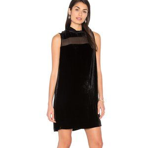 RAG & BONE Danni Black Velvet Shift Dress